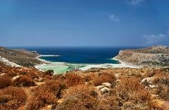 Balos Lagoon on the Greek island Royalty Free Stock Photo