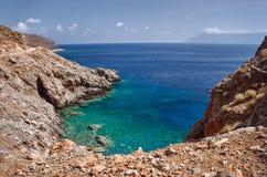 Balos Lagoon on the Greek island Royalty Free Stock Image