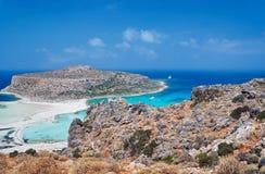 Balos Lagoon on the island of Crete Royalty Free Stock Image