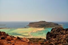 Balos-Lagune auf Kreta-Insel Lizenzfreie Stockbilder