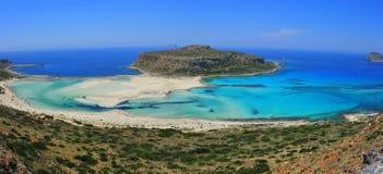 Balos Schacht/Strand, Gramvousa - Kreta, Griechenland Stockbild