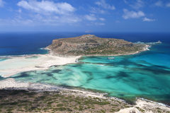 Balos strand på den Crete ön i Grekland Arkivfoto