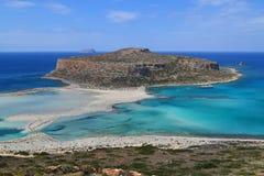 Balos strand på den Crete ön i Grekland Arkivfoton