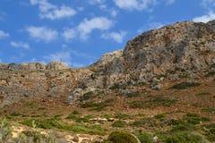 Balos strand på den Crete ön i Grekland Royaltyfria Bilder