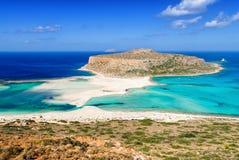 Balos strand på Kretaön i Grekland Fotografering för Bildbyråer