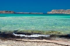 Balos-Strandansicht stockbilder