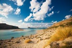 balos wyrzucać na brzeg Crete Greece Obraz Stock