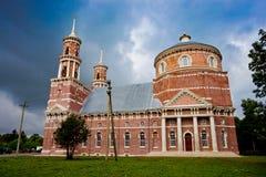 Balovnevo, Lipetk-Region, die Kirche Vladimir Icons der Mutter des Gottes in der gotischen Art Stockbilder