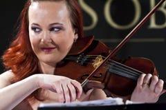 balowa bawić się Vienna skrzypce kobieta Zdjęcie Stock