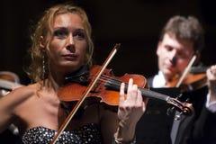 balowa bawić się Vienna skrzypce kobieta Obraz Stock