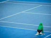 Balowa chłopiec przy australianu open tenisem Fotografia Royalty Free