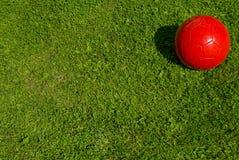 balowa czerwona piłka nożna Zdjęcie Royalty Free