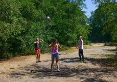 Balowa gra, siatkówka Fotografia Royalty Free