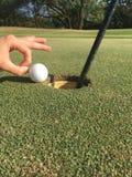 balowa krawędzi golfa dziura Zdjęcia Stock