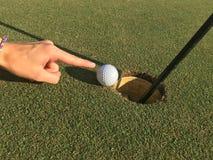 balowa krawędzi golfa dziura Obraz Royalty Free