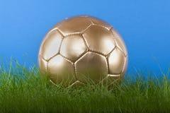 balowa złocista piłka nożna Obrazy Stock
