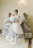balowe togi młodej trzy kobiety obrazy royalty free
