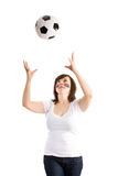 balowego żeńskiego futbolu odosobneni playign potomstwa Obrazy Stock