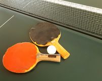 balowego błękitny paddle śwista pong nieba stołowy tenis Obraz Stock