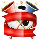 balowego filiżanki emblemata ramy grunge plakatowy piłki nożnej przestrzeni teksta wektor uskrzydla Obrazy Stock