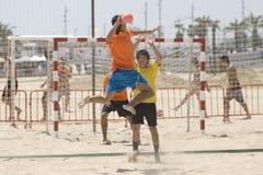 balowego handball skokowy gracz Fotografia Stock