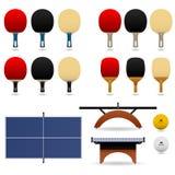 balowego nietoperza paddle ustalony stołowy tenis Fotografia Stock