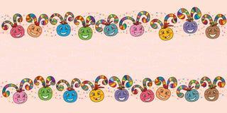 Balowego zawijasa szczęśliwy sztandar kolorowy Zdjęcia Royalty Free