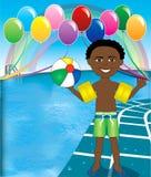 balowej chłopiec basen Zdjęcia Royalty Free