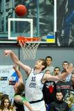 balowej koszykówki latający gemowy obręcz Obrazy Stock