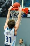 balowej koszykówki latający gemowy obręcz Zdjęcia Royalty Free