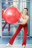 balowej sprawności fizycznej szczęśliwa zdrowa kobieta Obraz Royalty Free
