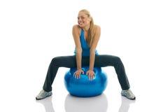 balowej sprawności fizycznej target871_0_ kobiety młode Fotografia Stock