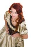 balowej sukni ładna kobieta Obrazy Royalty Free