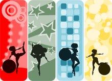 balowej sztandaru dziewczyny ustalony vertical Fotografia Stock