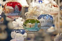 Balowi dekorujący boże narodzenia Zdjęcia Stock