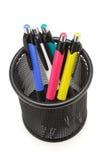 balowy czarny kolorowy zbiornika piór punkt Fotografia Stock