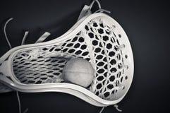 balowy czerń głowy lacrosse biel Zdjęcia Stock
