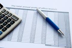 balowy kalkulatora dokumentów pióro obrazy royalty free