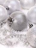 balowy koralików bożych narodzeń śnieg Obrazy Stock