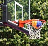balowy koszykówki obręcza ilustraci wektor Obraz Stock