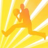 balowy koszykowy bawić się mężczyzna Zdjęcia Stock