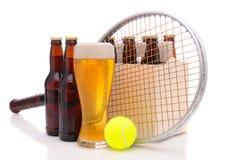 balowy piwo butelkuje kanta tenisa fotografia royalty free