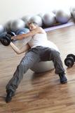 balowy sprawności fizycznej udźwigu programa stabilności ciężar Fotografia Royalty Free