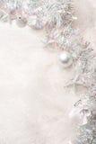 balowych bożych narodzeń dekoracj nowy faborku s srebny płatka śniegu rok Obraz Stock