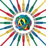 balowych kabli barwione sieci prymki target570_0_ Zdjęcia Stock