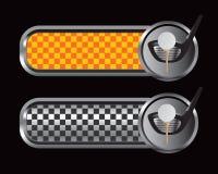 balowych sztandarów w kratkę świetlicowy golfowy trójnik Zdjęcia Stock