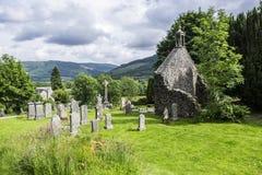 Balquhidder Kirkyard,苏格兰 图库摄影