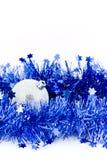 Bals d'argento di natale in canutiglia blu Fotografie Stock Libere da Diritti