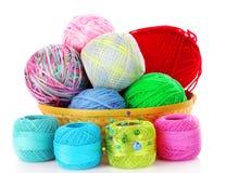 Bals de bobines et de laines d'amorçage d'isolement Image libre de droits