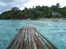 Balsa de bambú 1 de Fiji Foto de archivo libre de regalías